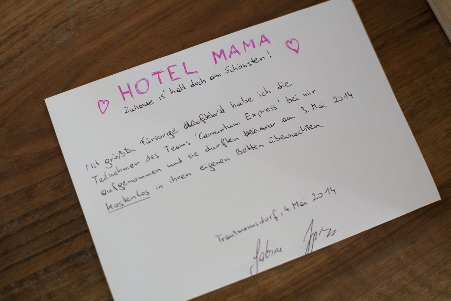 Die Hotelrechnung