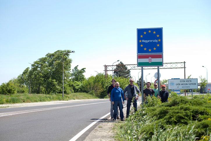 Grenzübertritt nach Ungarn